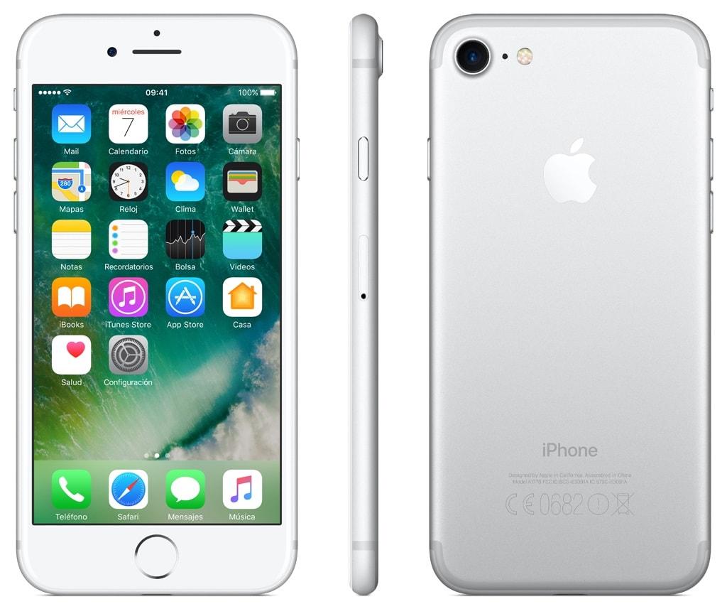 Celular Amigo Kit Telcel Apple Iphone 7 32Gb Silver + VR