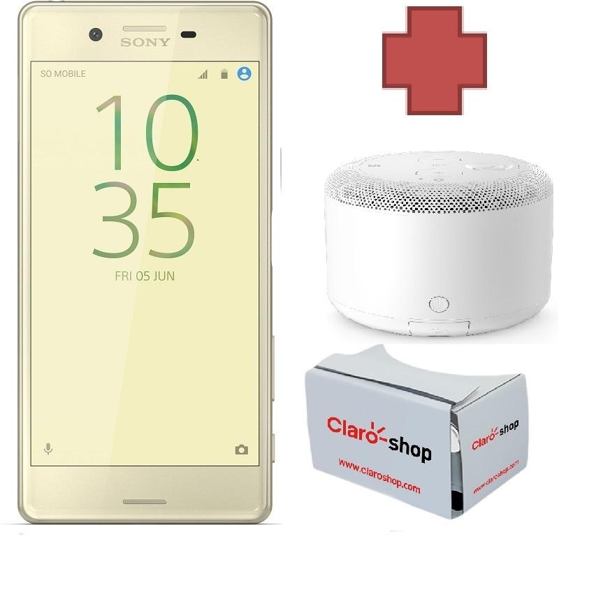 Celular Amigo Kit Telcel Sony Xperia X Dorado + VR + BOCINA